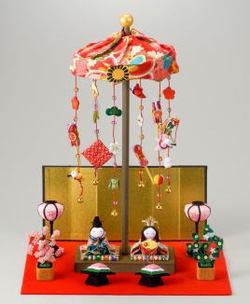 【送料無料】京都龍虎ミニ輪飾りわらべ雛セット【smtb-TD】【saitama】