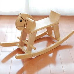 木のおもちゃ木馬
