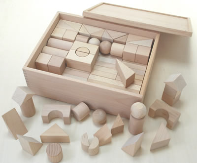 木のおもちゃ積み木 4Bセット