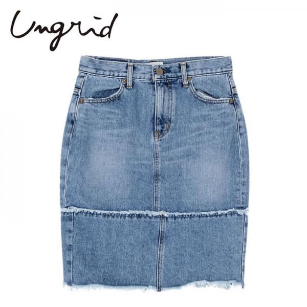 Ungrid(アングリッド)13,490⇒10,792(20%OFF)リメイクデニムタイトスカート(111530824101)スカート デニム リメイク コットン 綿 レディース カジュアル 送料無料 代引手数料無料