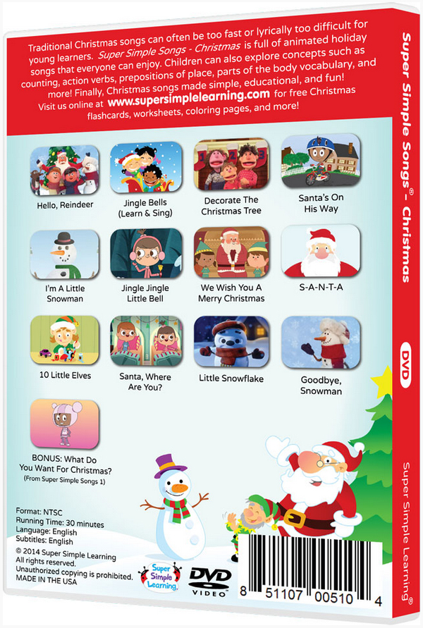 the super simple songs supermarket shin pull songs christmas christmas dvd cognitive education teaching materials english dvd english teaching materials