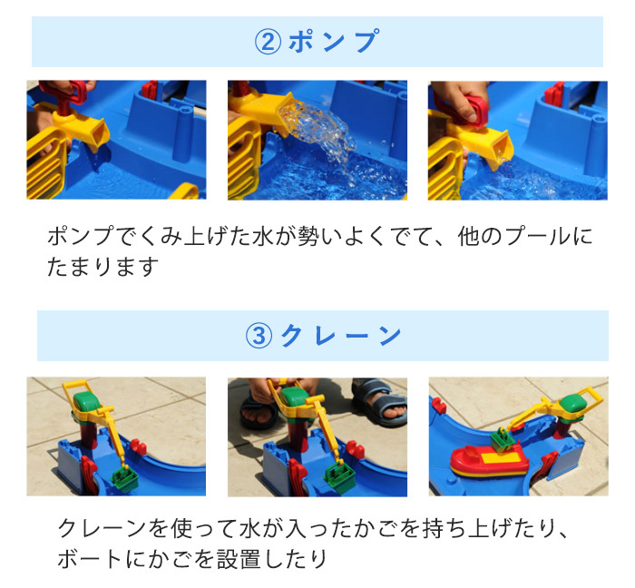 [latest edition 2017] the lock box playing in the water toy that ボーネルンド (BorneLund) aqua play is foldable