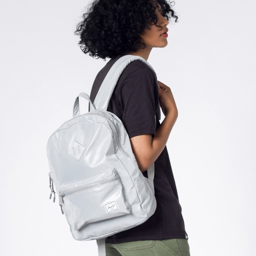 a4262adbea9 It is for HERSCHEL (Hershel) HERITAGE kids heritage (kids) SILVER  REFLECTIVE rucksack backpack   private supplementary school   excursion    trip