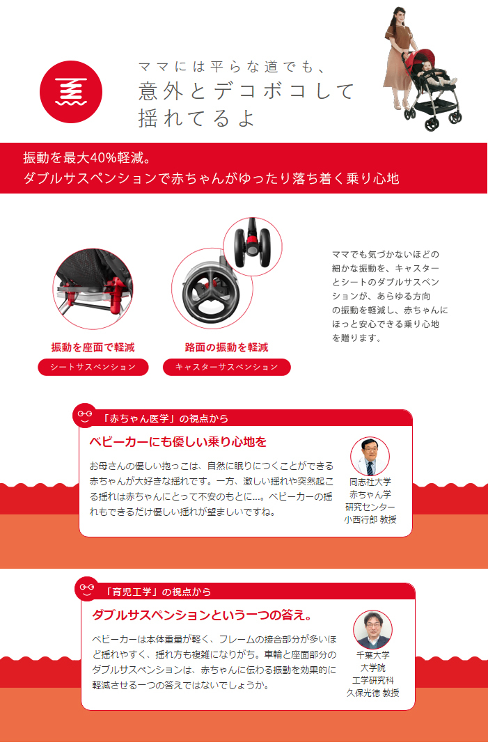 From Aprica (up Rika) オプティア Optia stroller type A stroller AB combined use one month