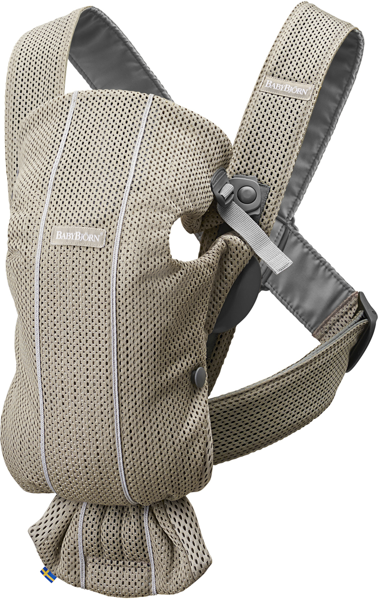 Baby Bjorn Japanese regular article two years guarantee SG babybjorn (baby Bjorn) baby carrier original mesh gray white cuddle string Air for standard