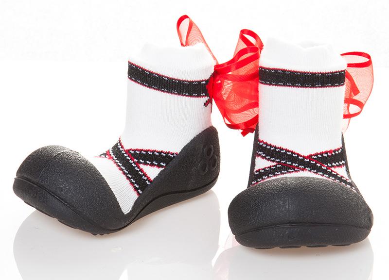 Attipas(atipasu)芭蕾舞黑色13.5cm嬰幼鞋一壘鞋訓練鞋