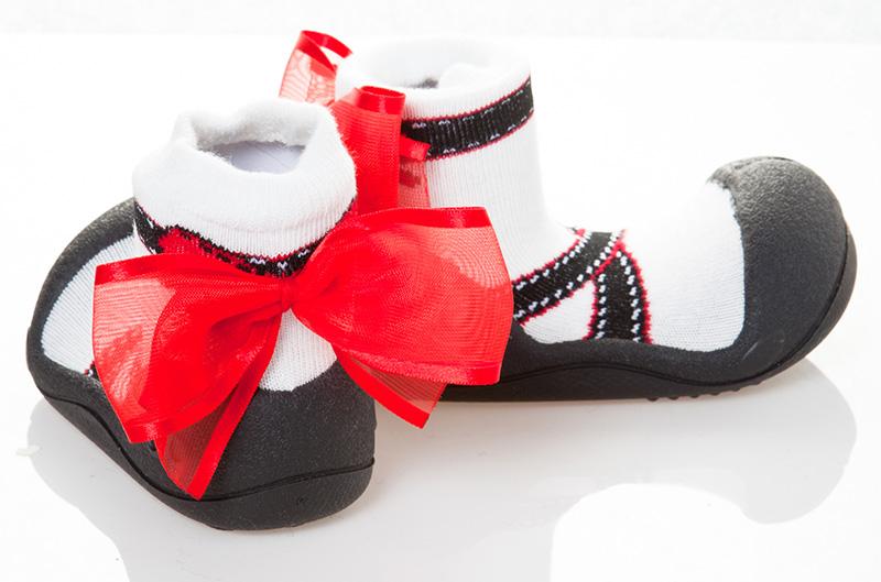Attipas(atipasu)芭蕾舞黑色13.5cm婴幼鞋一垒鞋训练鞋
