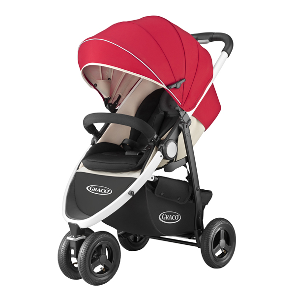 GRACO(格列柯)城市旅行紅嬰兒車3輪bebikabagi
