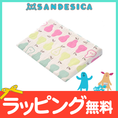 能洗涤sandeshika SANDESICA的6层纱布睡眠枕头(梨)婴儿枕头婴儿枕头枕头