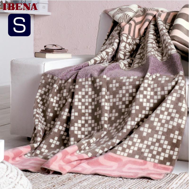 ドイツ・IBENAブランケット綿アクリル混毛布: Art.1606綿58%アクリル35%エステル7%シングルサイズ:商品重量1,300g数量限定・直輸入・軽量毛布