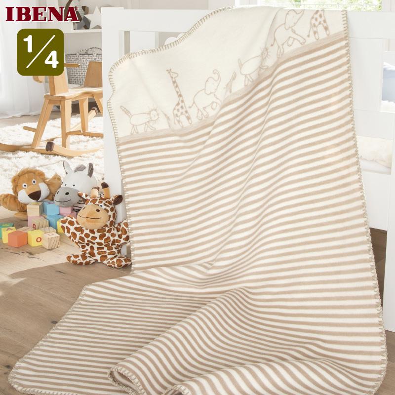 ドイツ 公式ストア IBENAブランケットベビー綿毛布: Art.2192綿100%クォーター:75×100cm数量限定 直輸入 軽量毛布 今季も再入荷