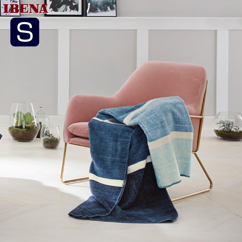 ドイツ・IBENAブランケット綿アクリル混毛布: Art.2287綿58%アクリル35%エステル7%シングルサイズ:商品重量1,300g数量限定・直輸入・軽量毛布