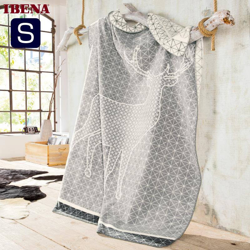 ドイツIBENAブランケット綿アクリル混毛布: Art.3025綿58%アクリル35%エステル7%シングルサイズ:商品重量1,300g数量限定・直輸入・軽量毛布数量限定・直輸入・軽量毛布