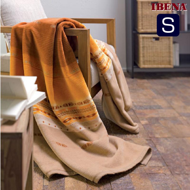 綿混毛布:綿60%アクリル40%シングルサイズ:商品重量1,420g数量限定・直輸入・軽量毛布ドイツ・IBENAブランケットシリーズSolare Art.2002