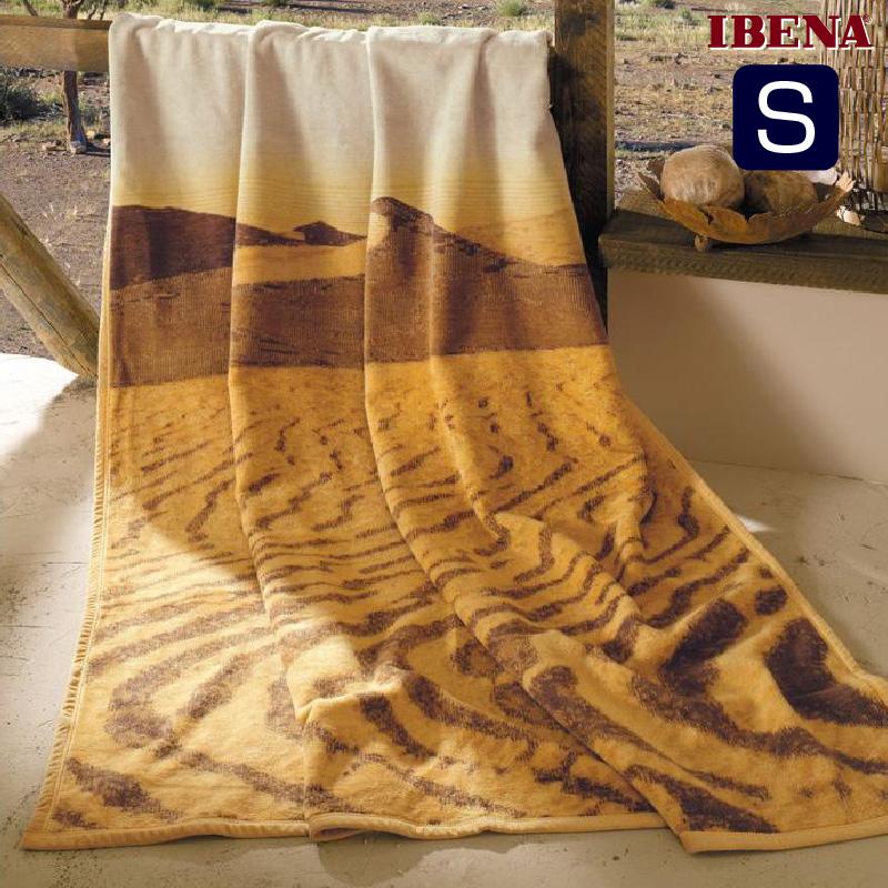 綿混毛布:綿58%アクリル35%PE7%シングルサイズ(150x200cm):商品重量1350g数量限定・直輸入・軽量毛布ドイツ・IBENAブランケットシリーズSolare Art.2046-200