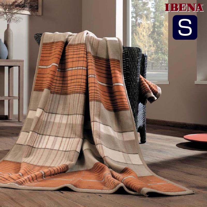 綿毛布:オーガニックコットン100%シングルサイズ(150x200cm):商品重量1,300g数量限定・直輸入・軽量毛布ドイツ・IBENAブランケット Art.2050