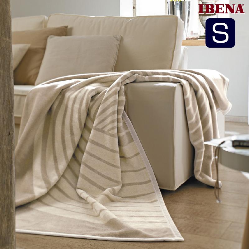 綿混毛布:綿60%:アクリル40%シングルサイズ:商品重量1,400g数量限定・直輸入・軽量毛布ドイツ・IBENAブランケットシリーズSolare Art.2306 Col.300