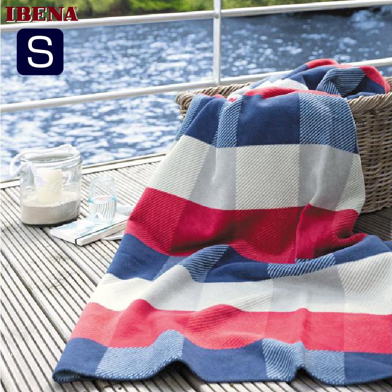 綿混毛布:綿58%アクリル35%PE7%シングルサイズ(150x200cm):商品重量1250g数量限定・直輸入・軽量毛布IBENA2015ドイツ・IBENAブランケットシリーズs.Oliver Art.673-650