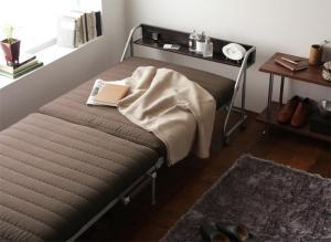 宮付きリクライニング折りたたみベッド Tars タルス シングル ベット 簡易ベッド 簡易ベット おしゃれ コンセント2口付き 6段階リクライニング 折り畳み式 折りたたみ式 キャスター付 ベット