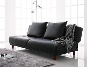 ソファベッド LARG ラルグ 3.5P ソファーベッド ソファ ソファー おしゃれ リクライニング 簡易ベッド 寝心地 座り心地 シンプル 合皮 ゆったり 2人掛け ブラック ブラウン アイボリー 040105017