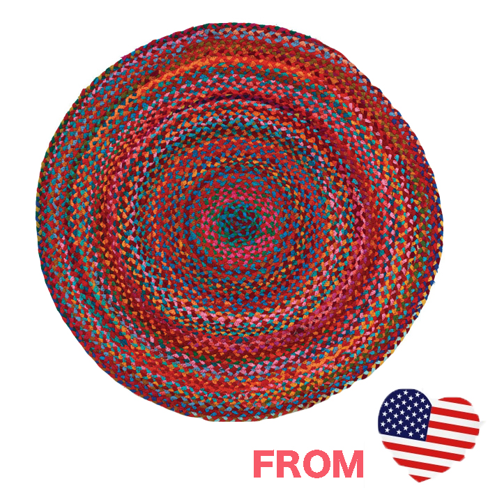 Beau Cute Rugs Round Round Round Rug Cotton Cotton Colorful Green Red Red  Imports Green Carpet Bathroom ...