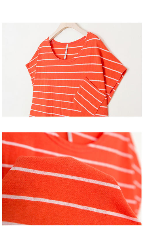 fb4484e2a6cd3 naturalbodymaking  T shirt cotton stripes so-called relax size ...