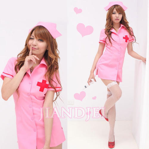 09fcb8eca8 Sexy pink nurse dress headband one-piece one-piece costume Halloween anime  cosplay race white ladies long sleeves ladies ladies ladies women s minivan  PI ...