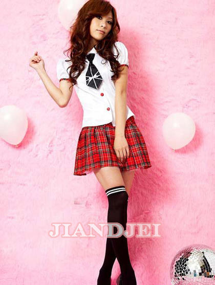 306959bd6 naturalbodymaking  Sexy schoolgirl dress headband one piece one ...