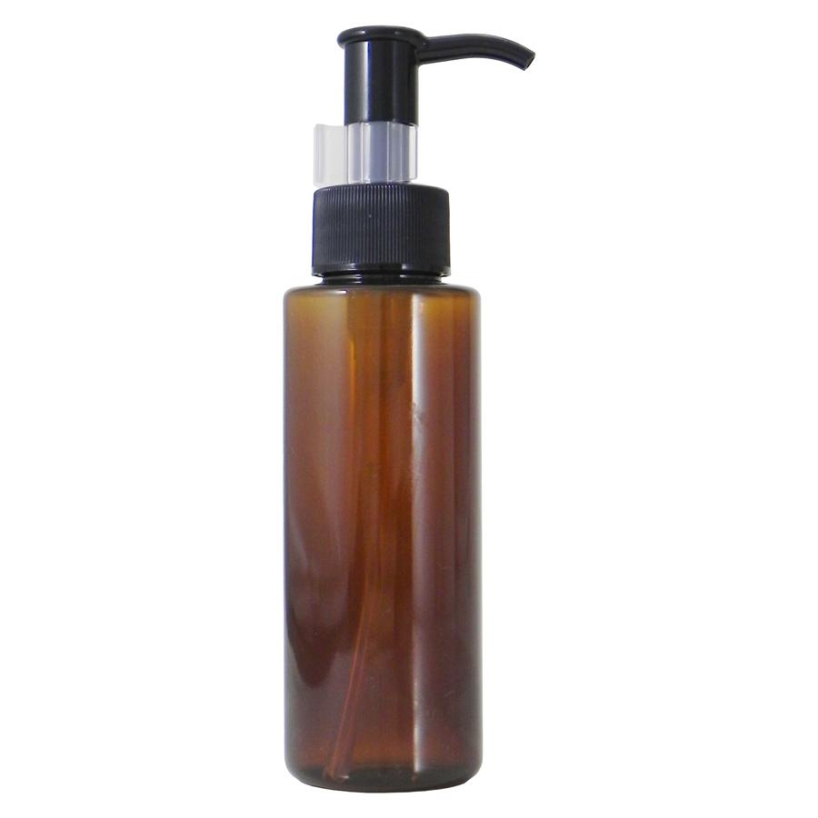 お気にいる 手作り化粧品やオイルの小分けに最適ボトル ポンプ 自然化粧品研究所 手作りコスメ 手作り化粧品 新作多数 化粧品容器 PETボトル 100ml 小分け 携帯用 茶