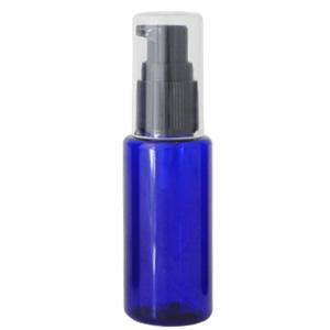 手作り化粧品やオイルの小分けに最適ボトル ポンプ 自然化粧品研究所 数量限定アウトレット最安価格 手作りコスメ 手作り化粧品 化粧品容器 携帯用 割引 50ml コバルトブルー 小分け PET 青 ボトル