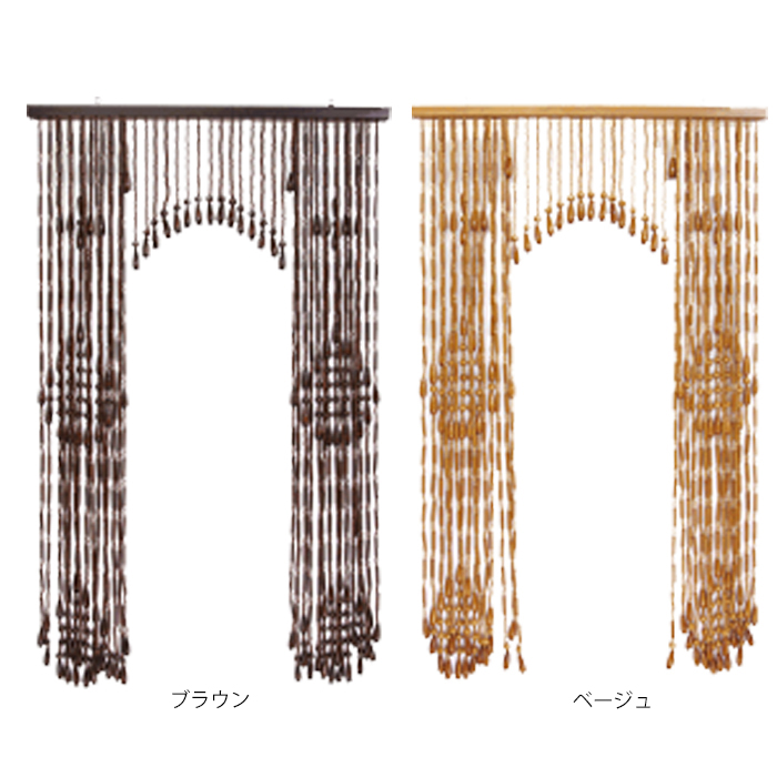昭和 レトロ の 一品 手作り 国産 Kー140 幅 85 奥行 4 高さ 140 cm 開閉式木珠のれん 花柄 セミロング タイプ送料無料