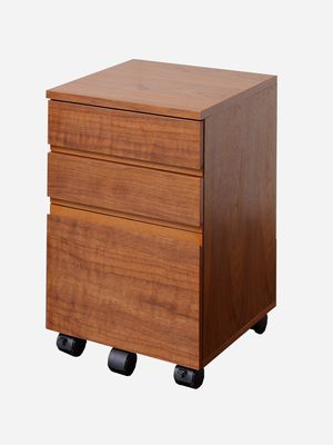 ウォールナットデスクチェストW340 【 K-2547BR 】 Walnut Desk Chest W340 ( デスク ・ デスクチェスト )