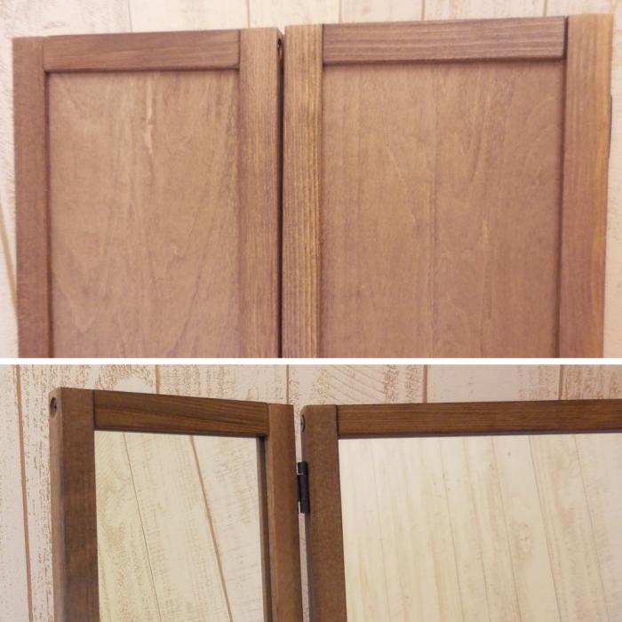三面 鏡 姿見 日本製 全身 鏡 大型 幅31.5cm 高さ148 厚み5cm 木製 天然木 フレーム 木枠 スタンド ミラー 着付け 3面 スタンドミラー 折りたたみ 扉付き おしゃれ アンティーク 全身鏡 カガミ かがみ ドレッサー スタンド ミラー ヘアメイク 3面