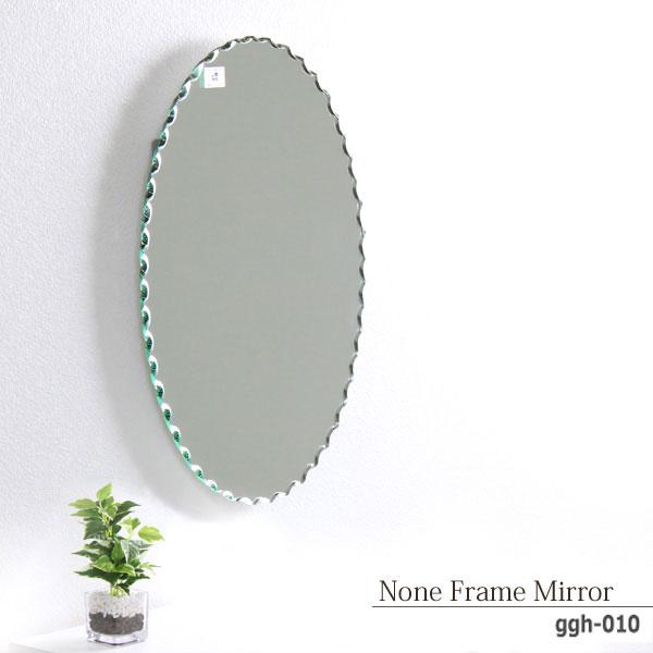 M's collection ノンフレームミラー 鏡 丸型 ミラー 壁掛け アンティーク 上品 枠なし 面取り おしゃれ おすすめ[送料無料]北海道 沖縄 離島は別途運賃がかかります