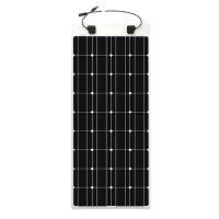 フレキシブル 単結晶 ソーラーパネル/太陽電池 100W - 12V / R-solar「延長ケーブル 3m」[正規ルート品][日本語取扱説明書]