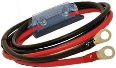ヒューズ付き配線ケーブル赤黒2本1セット KIV60sq:1m + fuse100Acase + R60-8,10[正規品/日本語の説明書付き/無料保証2年(電池を除く)]