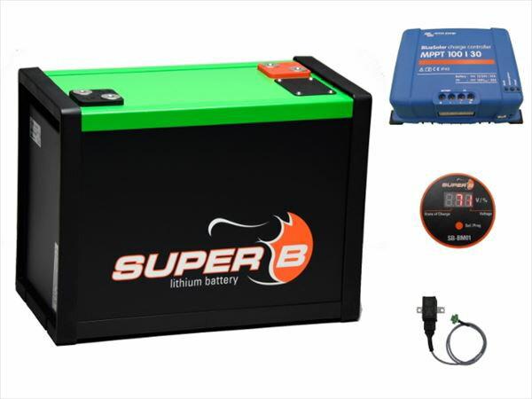 チャーコン付き電源セット・直流12V 160Ahリチウムイオン電池 / SB-C160-12[正規品/日本語の説明書付き/無料保証2年(電池を除く)]