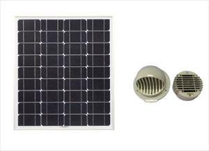 ソーラー換気扇セット (電池無・直結タイプ) ケーブル10mタイプ[正規ルート品][日本語取扱説明書]