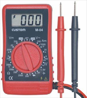 太陽電池の出力確認 バッテリーの電圧測定 工作のチェックに必ず必要です 乾電池のチェックも簡単にできますので ご家庭でも大活躍 デジタルテスター 電池を除く M-04 期間限定特別価格 株式会社カスタム 無料保証2年 日本語の説明書付き 公式ストア 正規品