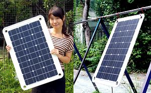 ポータブル太陽電池 / 40W-12V ソーラーパネル サンパッド[正規品/日本語の説明書付き/無料保証2年(電池を除く)]