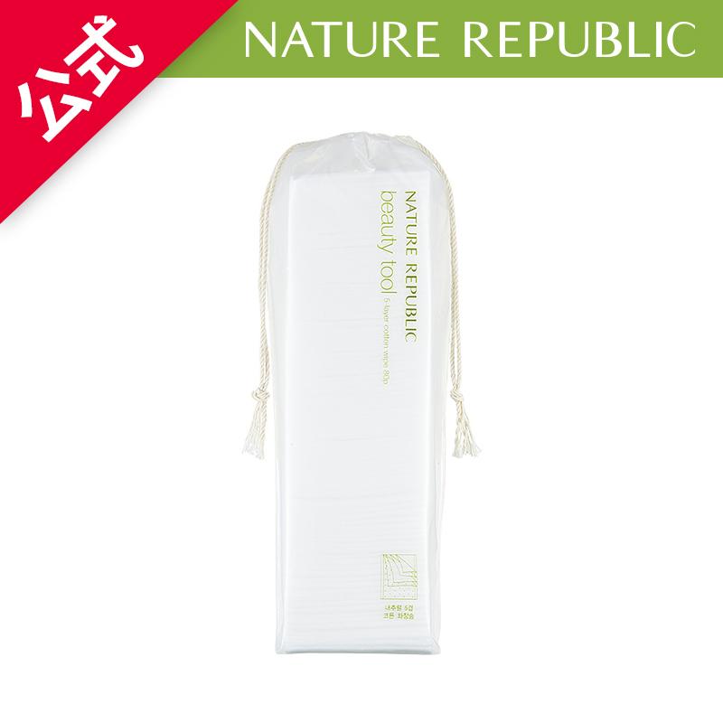 NATURE REPUBLIC 公式 ビューティーツールナチュラル5枚重ね化粧用コットン80枚 NCT127 使い勝手の良い メイク落とし 化粧水などをたっぷりと吸い込み 新発売 コットンパッド