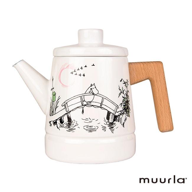 【送料無料】【あす楽】Moomin ムーミン Muurla ムールラ ホーローポット ( Missing You 1.6L ) 北欧雑貨 ティーポット ホーロー ムーミン2020