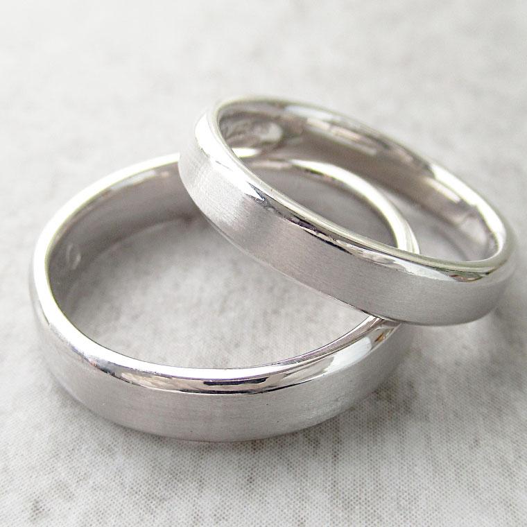 Paripassu 結婚指輪 マリッジリング ペアリング 男性 女性 2個ペア 刻印無料 偶数号 シルバー つや消し 幅広 レディース メンズ 結婚記念日 指輪 プロポーズ