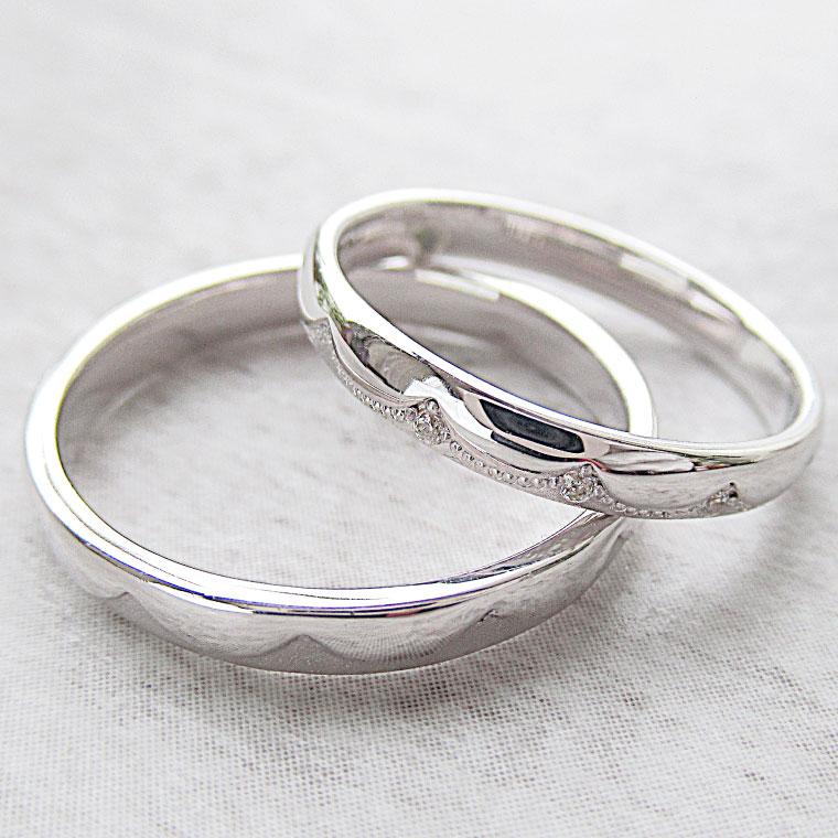 Paripassu 結婚指輪 マリッジリング ペアリング 男性 女性 2個ペア 刻印無料 偶数号 シルバー くも レディース メンズ 結婚記念日 指輪 プロポーズ