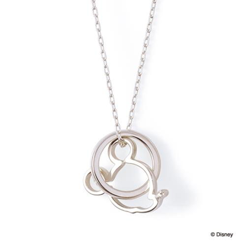 母の日 プレゼント 花以外 ギフト THE KISS ディズニー コレクション ペアネックレス シルバー ネックレス ミッキー メンズ ペア ダイヤモンド 50cm ザ・キッス お揃い 誕生日 記念日 メンズ