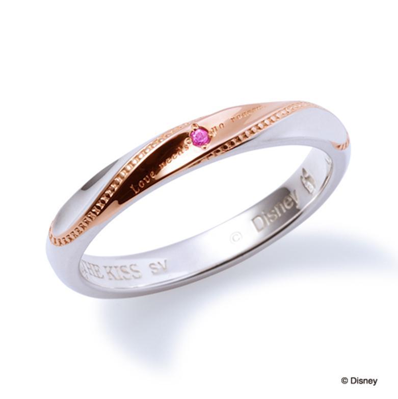 母の日 プレゼント 花以外 ギフト THE KISS ディズニー コレクション ペアリング シルバー リング デイジー レディース ペア ハート シェアハート ザ・キッス お揃い 指輪 誕生日 記念日 メンズ 結婚指輪 刻印可能