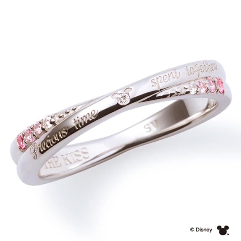 母の日 プレゼント 花以外 ギフト THE KISS ディズニー コレクション ペアリング シルバー リング ミニー レディース ペア ダイヤモンド クロッシング 隠れミッキー ザ・キッス お揃い 指輪 誕生日 記念日 メンズ 結婚指輪 刻印可能