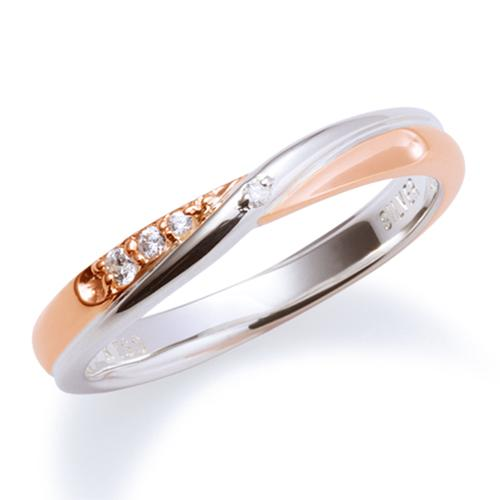 母の日 プレゼント 花以外 ギフト THE KISS ペアリング シルバー リング エターナルハート レディース ペア ダイヤモンド インフィニティ ザ・キッス カップル お揃い 指輪 誕生日 記念日 メンズ刻印可能