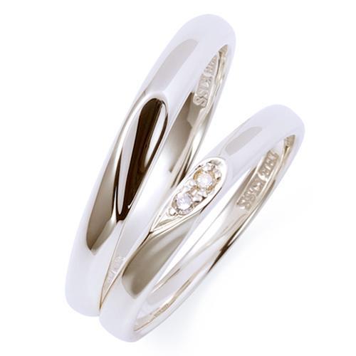 THE KISS ペアリング 男性 女性 2個ペア シルバー リング ハート レディース メンズ ペア ダイヤモンド ザ・キッス カップル お揃い 指輪 誕生日 記念日 メンズ 結婚指輪 刻印可能