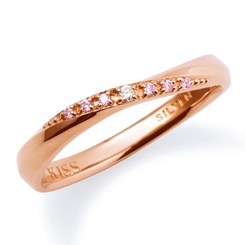 母の日 プレゼント 花以外 ギフト THE KISS ペアリング シルバー リング レディース ペア ダイヤモンド ピンクゴールド ザ・キッス カップル お揃い 指輪 誕生日 記念日 メンズ